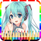 Anime Manga Coloring Books icon