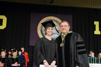 Photo: Sarah M. Tringali, who receives her master's degree in Counselor Education, is the 2013 winner of Jill Brooks Hodge Professional Development Award.