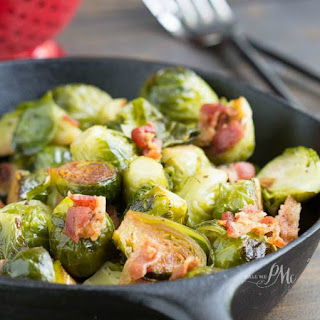 Kentucky Bourbon Braised Bacon Brussel Sprouts