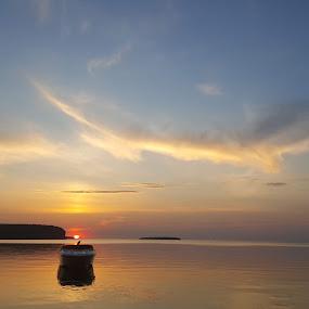 EphraimWISunsets by Tameem Sanjar - Landscapes Sunsets & Sunrises ( sunset lake horizon orange reflection,  )