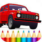 Russian Cars Coloring Book Icon