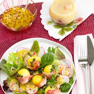 Blattsalat mit Radieschenvinaigrette
