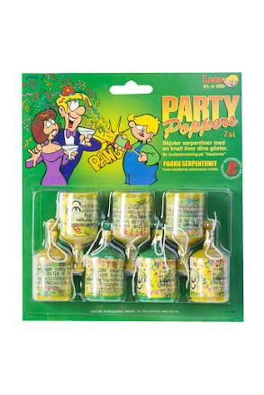 Party poppers, 7 st