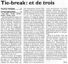 Photo: 23-10-11 N3M l'ASVB une nouvelle fois battue au tie-break face à Strasbourg