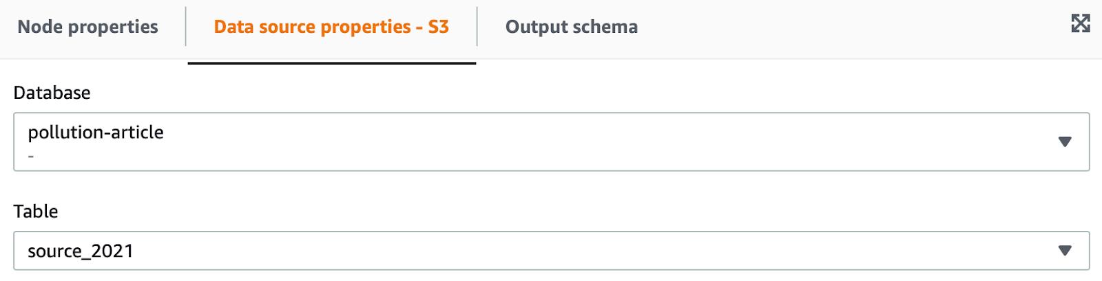 Data Source Properties - S3