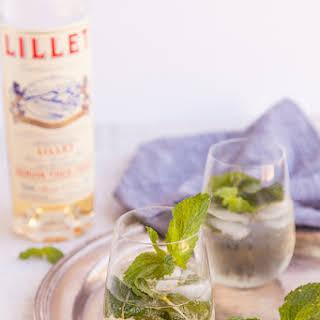 Lillet, Mint and Elderflower Aperitif.