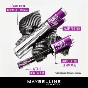 Pestañina Maybelline The Falsies Lash Lift Waterproof Black x 10Ml