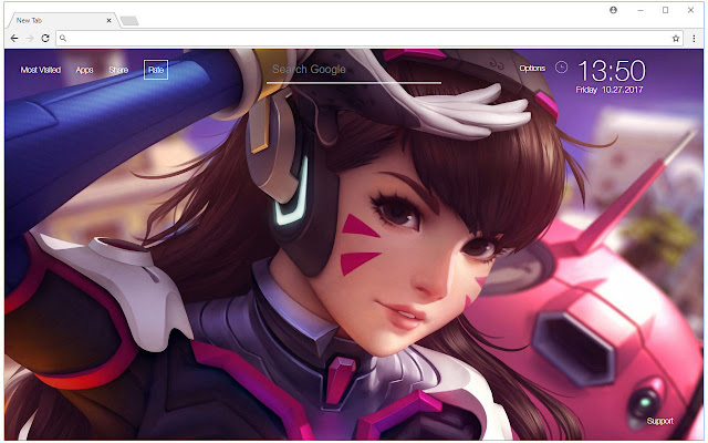 DVa HD Wallpaper Overwatch New Tab Themes