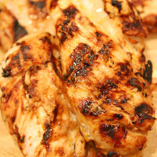 Chicken Breasts with Citrus Garlic Marinade.