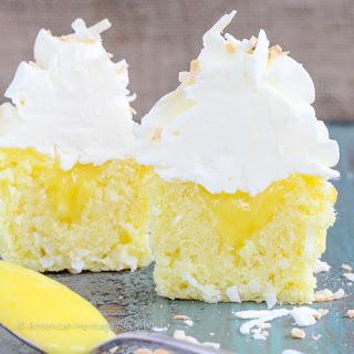 Lemon Coconut Cupcakes {Italian Meringue Buttercream}