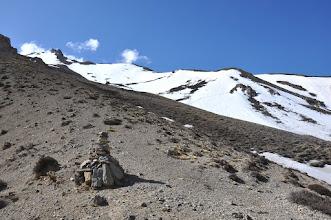 Photo: Sur le chemin à flanc en direction du Green high camp