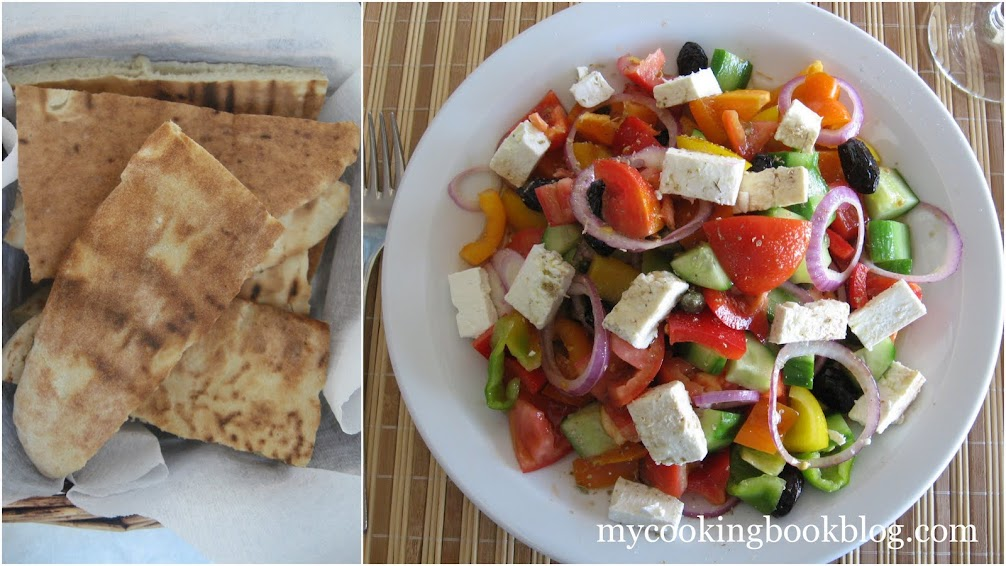 Гръцка салата с цветни чушки и каперси