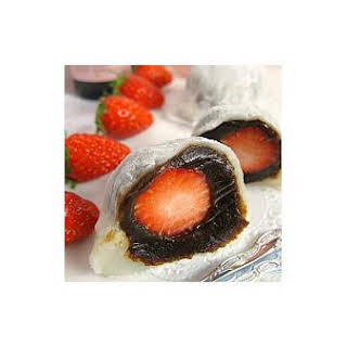 Strawberry Mochi With Prune Paste.