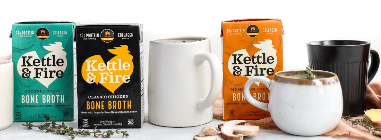 Bone broth selection from Kettle & Fire | Influencer Marketing Programs