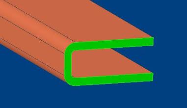 Photo: le profil U : grande surface bricolage  il retiens la vitre