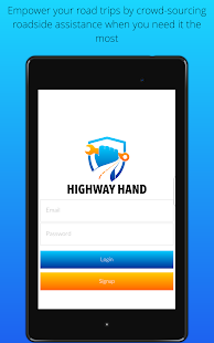 Highway Hand Roadside Assist Screenshot