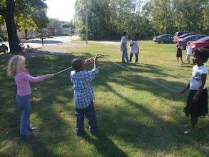 Photo: preparing to jump rope