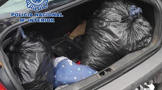 Cinco detenidos cuando transportaban por la A-7 40 kilos de marihuana