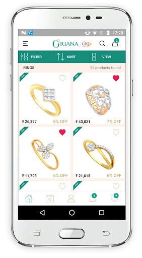 oriana.com by grt jewellers   online shopping screenshot 3