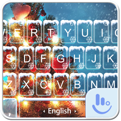 Warm Snowy Tree Keyboard Theme