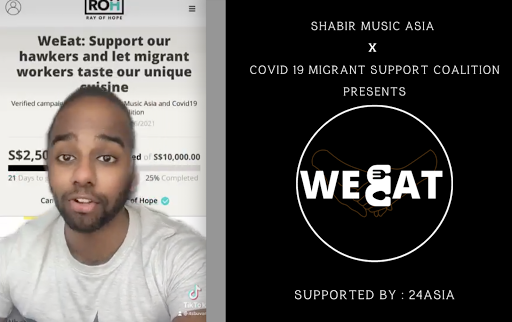 Local musician raises money to buy meals from hawkers to give to migrant workers