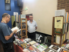 Photo: 006 Spotlight on the traders: One I have not featured recently, but has become a welcome and popular attender at many of the NG model events is John Sutton with his specialist railway book stall, featuring a really good variety of NG books and publications .