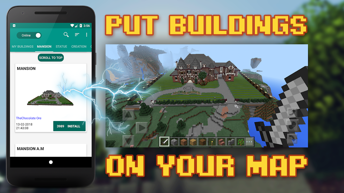 Buildings for Minecraft Android App Screenshot