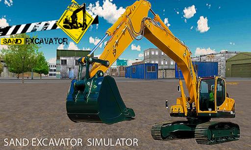沙挖掘機起重機模擬器