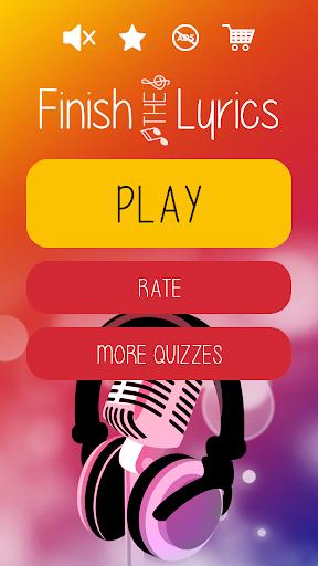 Finish The Lyrics - Free Music Quiz App 3.0.0 screenshots 1