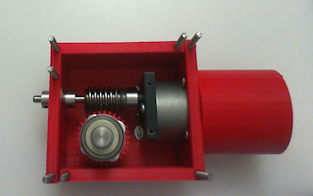 Photo: Step 7 of the installation showing the drive shaft inserted into the mix!