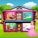 Doll House Design: Girl Home Game, Color by Number icon