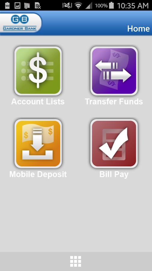 Gardner Bank- screenshot