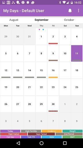 My Days  Period Ovulation screenshot 1