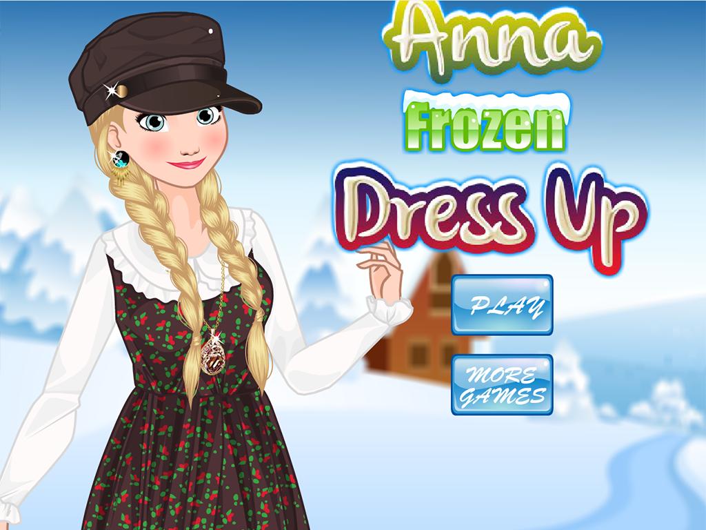 Dress up frozen game - Anna Frozen Dress Up Screenshot