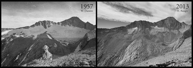 Photo: Conness Glacier Station: 5555 Source: 1957 - National Park Service 2013 - The Glacier RePhoto Project