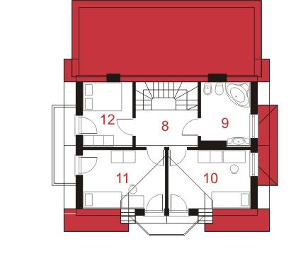 Dom przy Kalinowej 3 - Rzut poddasza