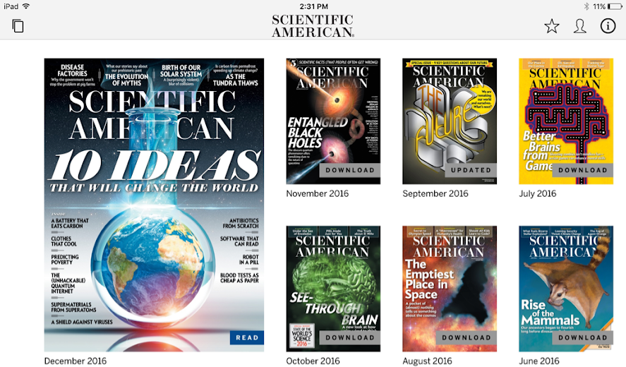 Screenshot 8 for Scientific American's Android app'