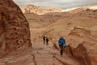 Photo: Hiking up the Al-Khubtha trail to the treasury overlook