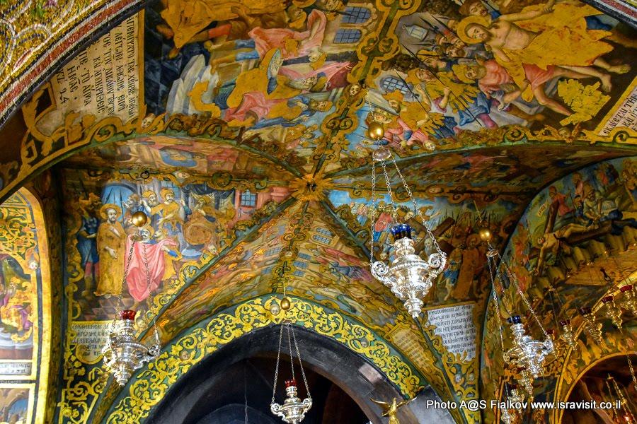 Фрески на Голгофе, Православный придел.