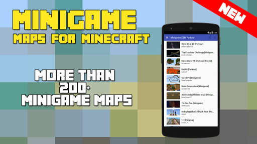 Minigame Map for Minecraft PE
