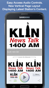 KLIN 1400 AM- screenshot thumbnail