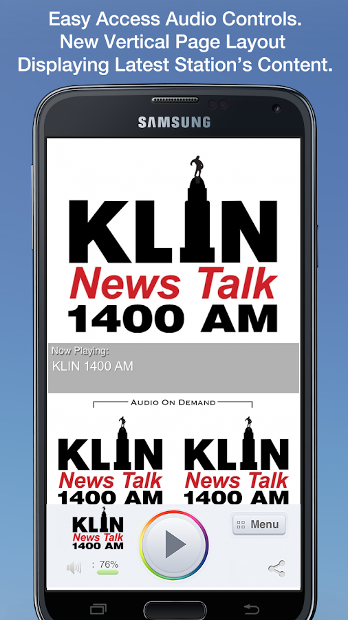 KLIN 1400 AM- screenshot