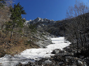 Photo: Prvi jezik snijega ispod Širokog briga