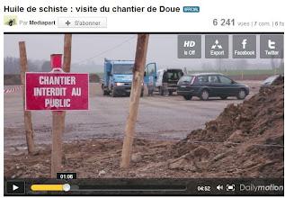 Photo: DOUE...Visite du chantier: http://www.dailymotion.com/video/xgzm8h_huile-de-schiste-visite-du-chantier-de-doue_news