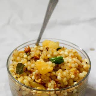 Sabudana Khichdi recipe, Sago Khichadi, Javvarisi Upma.