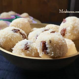 Rava Laddu  Semolina Coconut Balls.