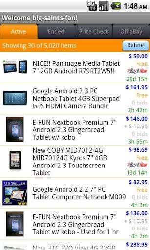 Pocket Auctions for eBay screenshot 2
