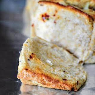 Eggless Basil Cheese Pull-Apart Bread.