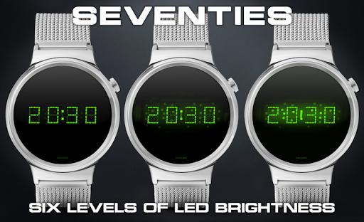 Download LED watch face | Vintage | Seventies Emerald MOD APK 1