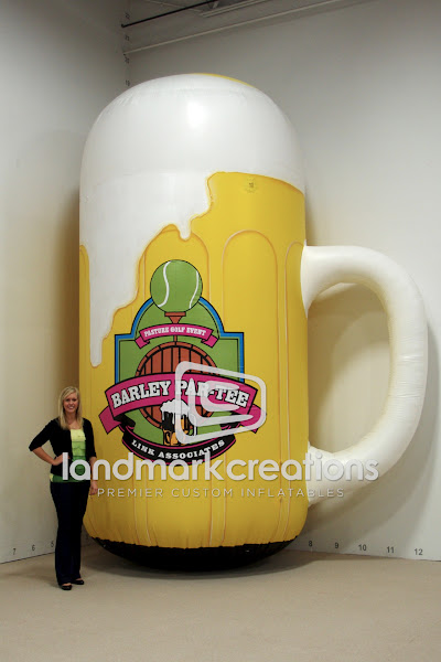 Photo: Link Associates promoted their 3rd annual Barley Par-Tee event with this inflatable beer mug. The non-profit also used their inflatable to promote the event at local festivals and fairs. The giant beer mug became a focal point at the 2012 St. Patrick's Day parade.